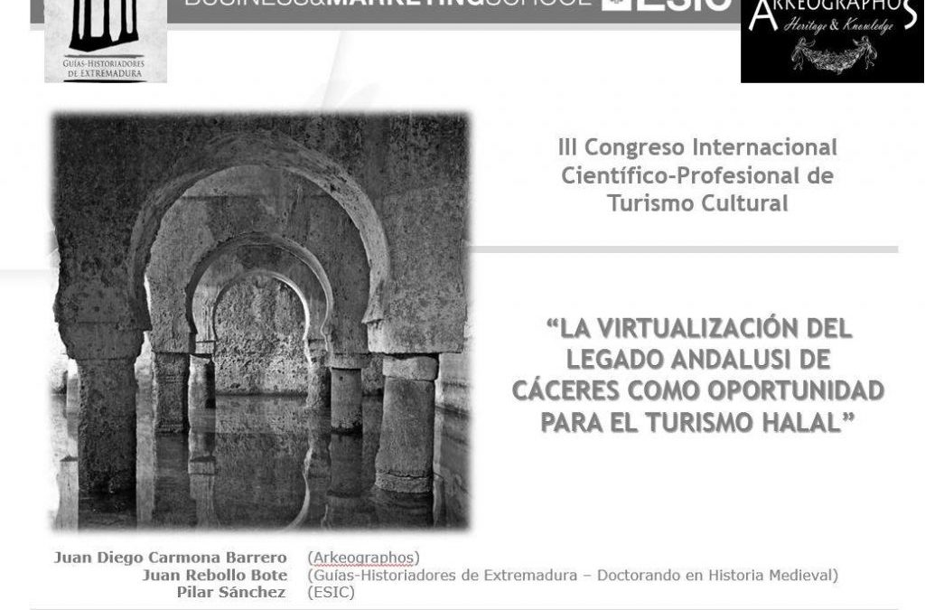 Cartel de congreso internacional sobre turismo cultural en Córdoba