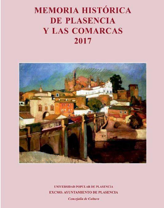 """Publicación del volumen """"Memoria Histórica de Plasencia y las Comarcas 2017″"""