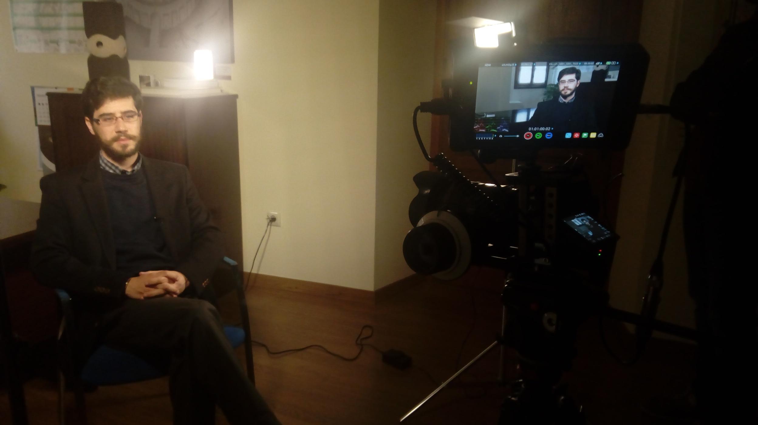 """Antonio Cancho graba para el documental """"Historia de Extremadura"""" de Canal Extremadura TV"""