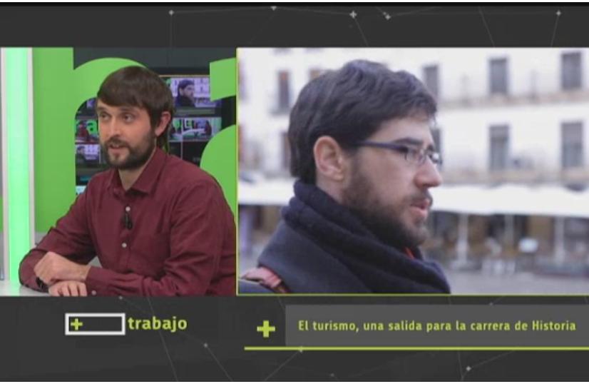 Guías-Historiadores de Extremadura, en el programa «Más Trabajo» de Canal Extremadura TV