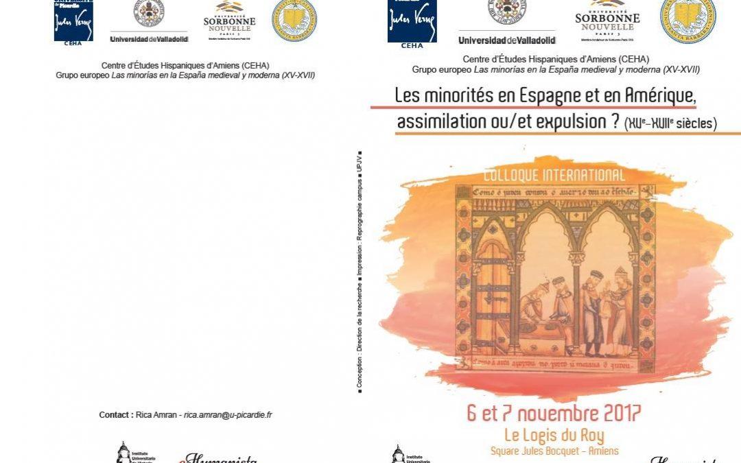 Historiadores en Amiens (Francia). A propósito de las minorías en España y América