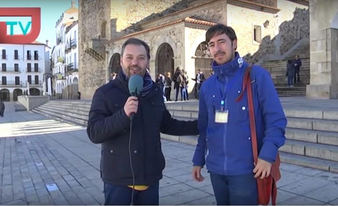 """Álvaro Vázquez, en el programa de televisión """"La Faltriquera"""""""