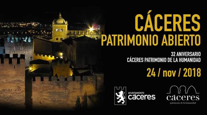 «Cáceres, Patrimonio Abierto», en el 32º aniversario de la declaración de Ciudad Patrimonio de la Humanidad