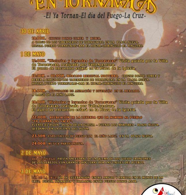 Cartel del programa de actos Días de Fuego en Tornavacas