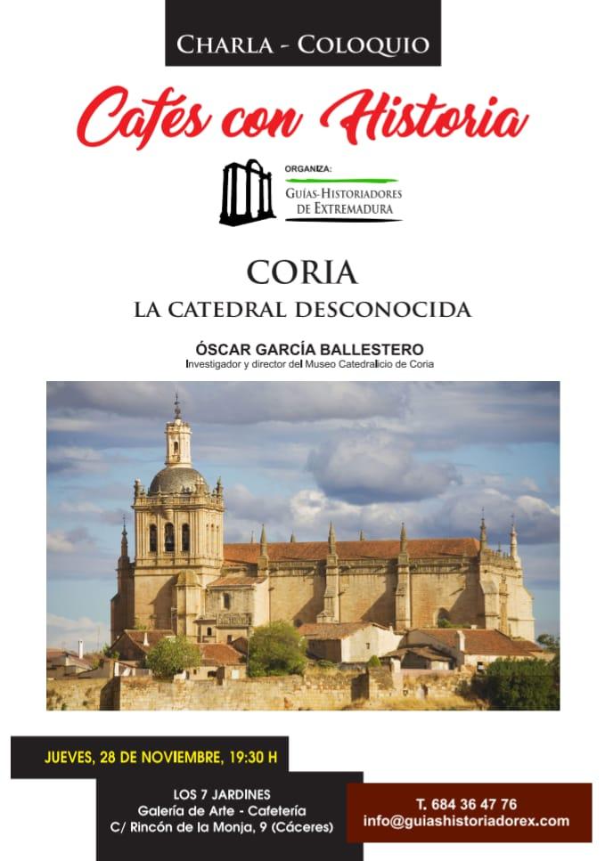 """Cartel de la sexta edición de """"Cafés con Historia"""""""