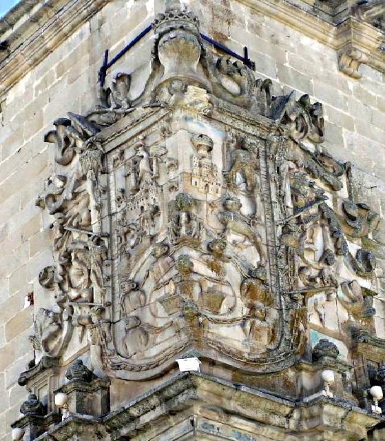 Escudo de los Marqueses de la Conquista, obtenido por Francisco Pizarro, en Trujillo