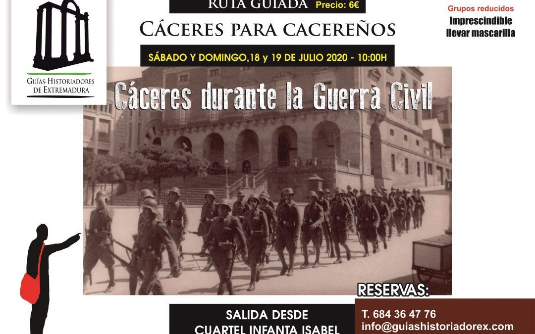 Cáceres durante la Guerra Civil, 18 y 19 de julio de 2020