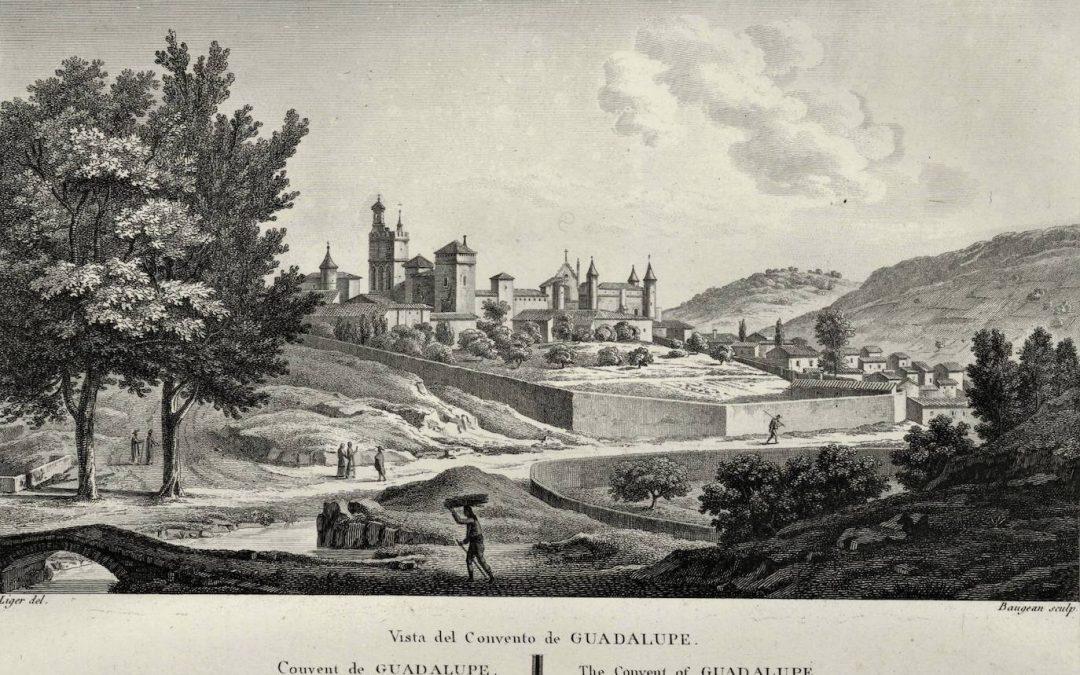Grabado de vista de Guadalupe, realizado por Alexandre de Laborde