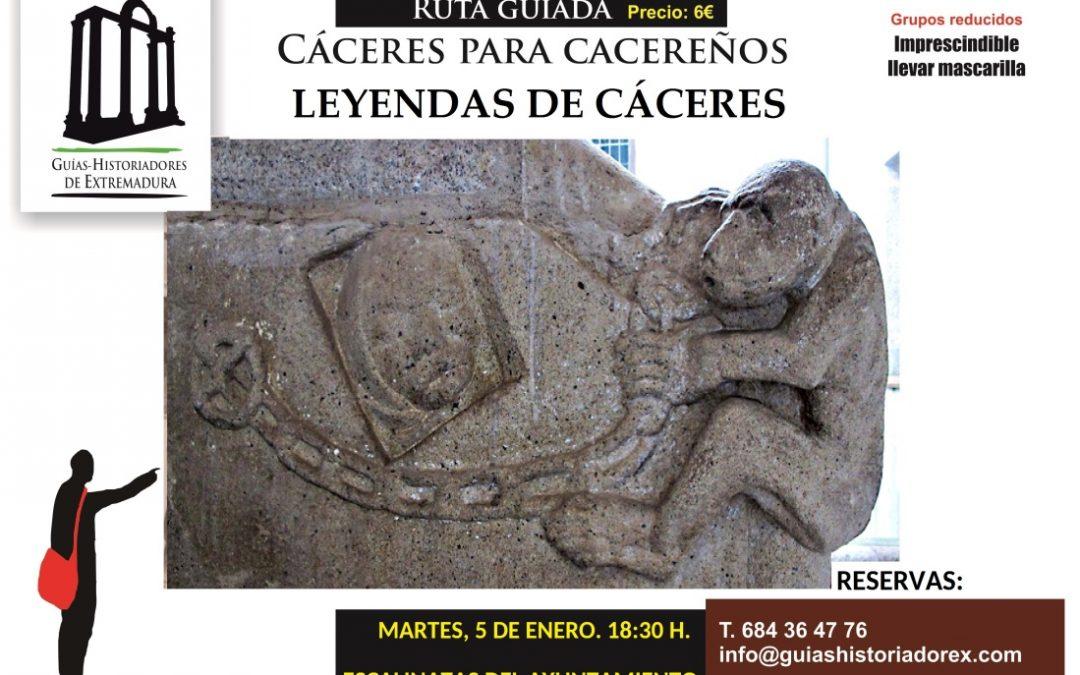 """Cartel de la ruta """"Leyendas de Cáceres"""" del ciclo """"Cáceres para cacereños"""""""