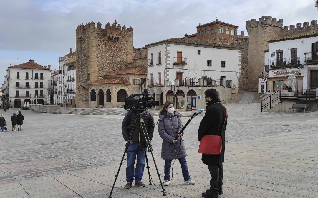 Entrevista para los informativos de Canal Extremadura TV, con Antonio Cancho en Cáceres para cacereños